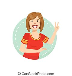 Cheerful Emotion Body Language Illustration