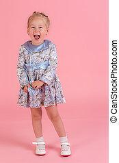 cheerful expressive girl