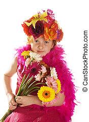 cheerful flower child