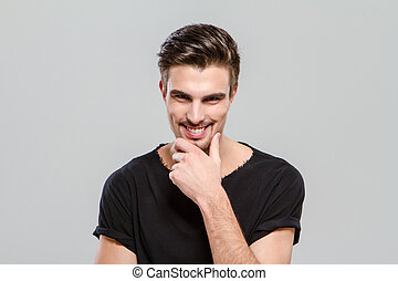 Cheerful handsome guy