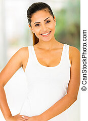 cheerful healthy young woman