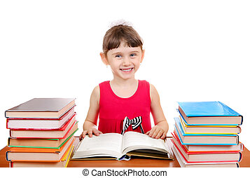 Little Girl with the Books