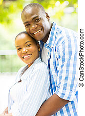 loving african couple