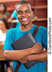 male african college student portrait