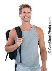 Cheerful man in sportswear