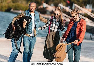 multicultural friends
