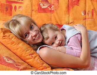Cheerful mum with a daughter 3