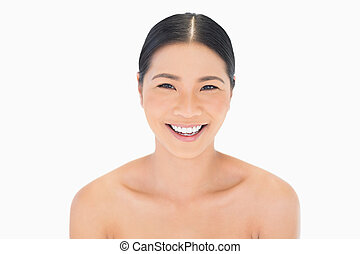Cheerful natural model posing