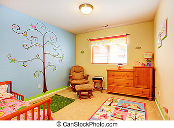 Cheerful nursery room interior