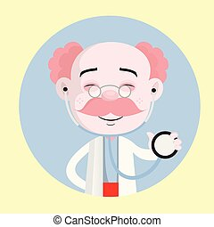 Cheerful Pathologist with Stethoscope Vector