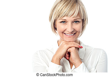 Cheerful portrait of a beautiful woman