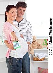 Cheerful pregnant woman