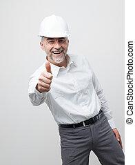 Cheerful professional engineer
