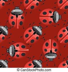 seamless pattern with lady bug