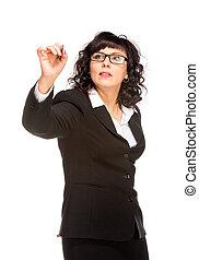 Cheerful senior business woman
