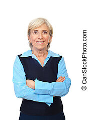 Cheerful senior executive woman