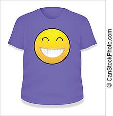 Cheerful Smiley T-Shirt Vector
