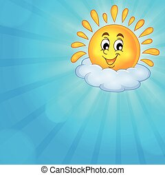 Cheerful sun theme image