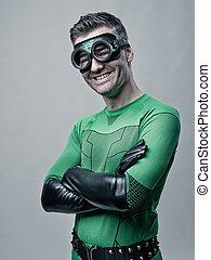 Cheerful superhero