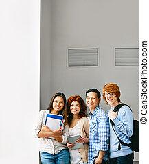Cheerful teenagers