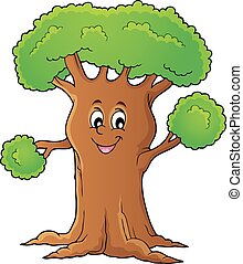 Cheerful tree theme image 1