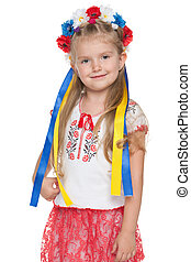 Cheerful Ukrainian girl