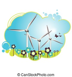 Cheerful wind turbines