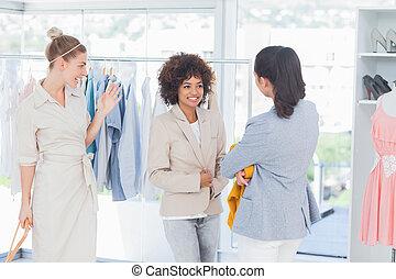 Cheerful woman wearing a blazer
