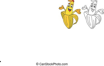 banana illustration for coloring book black and white vector illustration search clipart. Black Bedroom Furniture Sets. Home Design Ideas