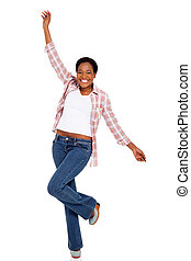 young african american woman dancing
