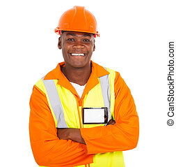 young african male contractor