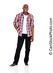 young afro american man - cheerful young afro american man ...