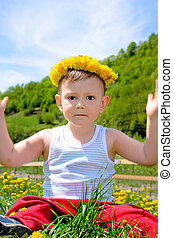 Cheerful young boy