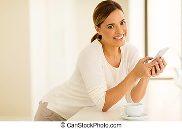 young woman using smart phone