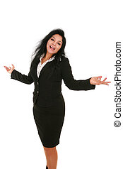 Cheerfule Hispanic Female Business Woman - Cheerfule...