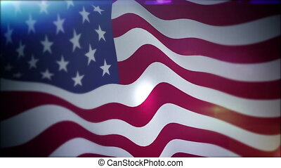 """Cheerfully Flapping Banner of the USA"" - ""Dazzling 3d..."