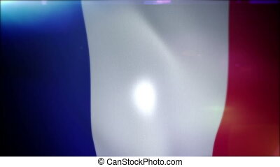 """Cheerfully Flapping French Banner"" - ""Optimistic 3d..."