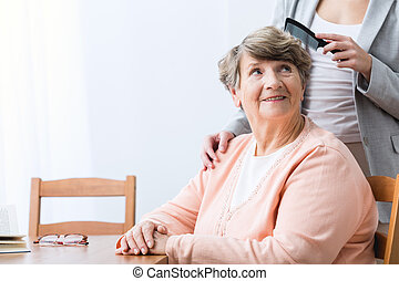 Cheerfulness old woman
