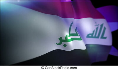 """Cheerily Fluttering Banner of Iraq "" - ""Patriotic 3d..."