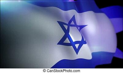 """Cheerily Fluttering Banner of Israel "" - ""Artistic 3d..."