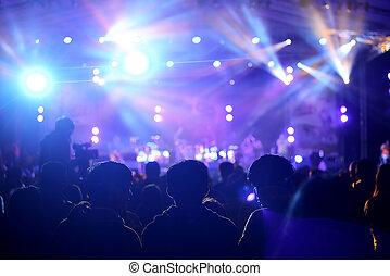 cheering, жизнь, концерт, в течение, fans