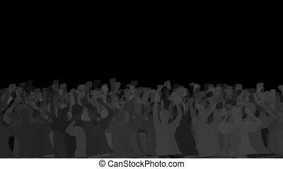 cheering crowd,dance people