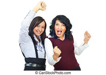 Cheering women