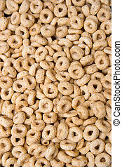 patterns of food: cirlce shaped cereal