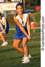 Cheerleader Cheering 2 - Youth Teen Cheerleader Cheering at...