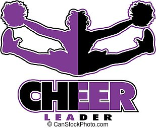 cheerleader design - cheerleader team design with girl doing...
