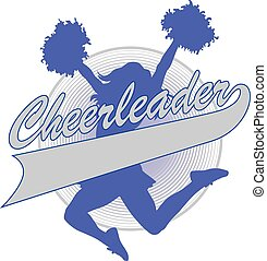 Cheerleader Design - Illustration of a cheer design for...