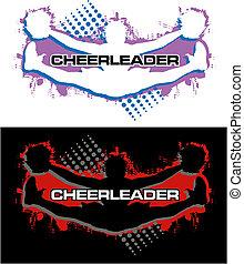 cheerleader, faire, a, orteil, toucher
