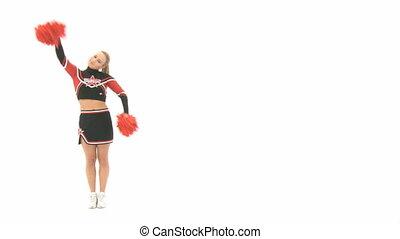 Cheerleader is doing a cartwheel - Cheerleader doing a...