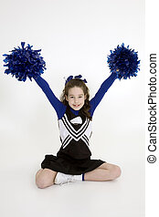 Cheerleader - Model Release 378 Nine year old girl dressed...
